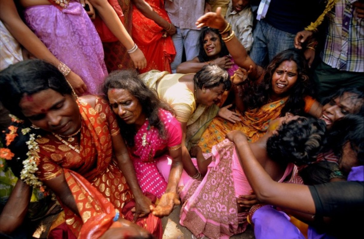 Devotees at the Aravan Festival wail and weep when their marriage to their god is broken the morning after their symbolic wedding.