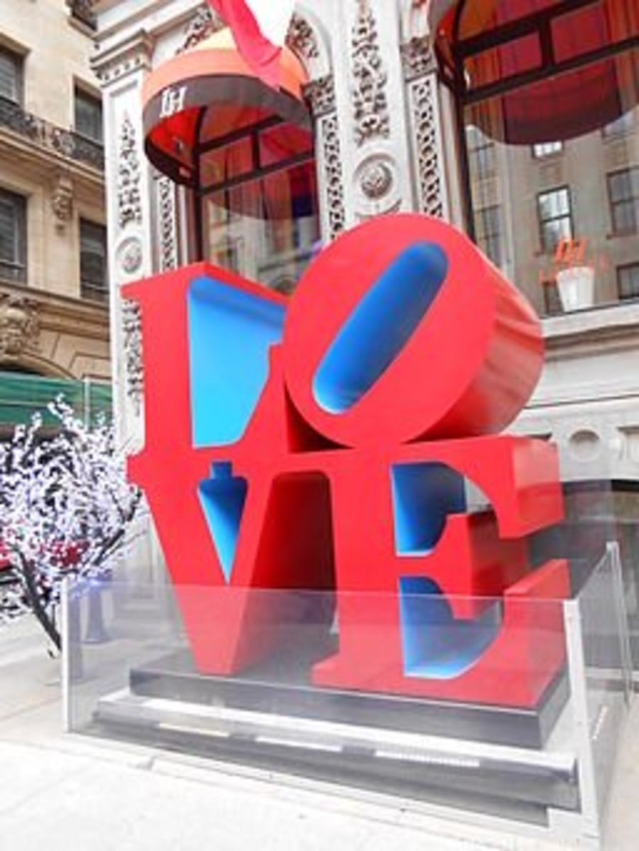 The sculpture that Robert Indiana modeled his Hebrew one after.