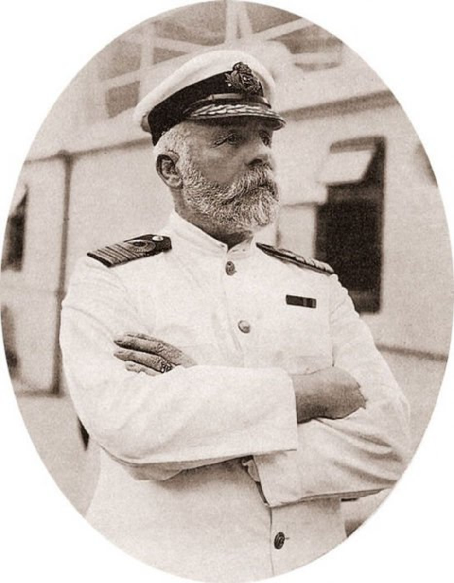 Edward Smith, the captain of Titanic.  Smith was killed, along with 1,500 others, after she struck the iceberg and went down.  His body has never been recovered.
