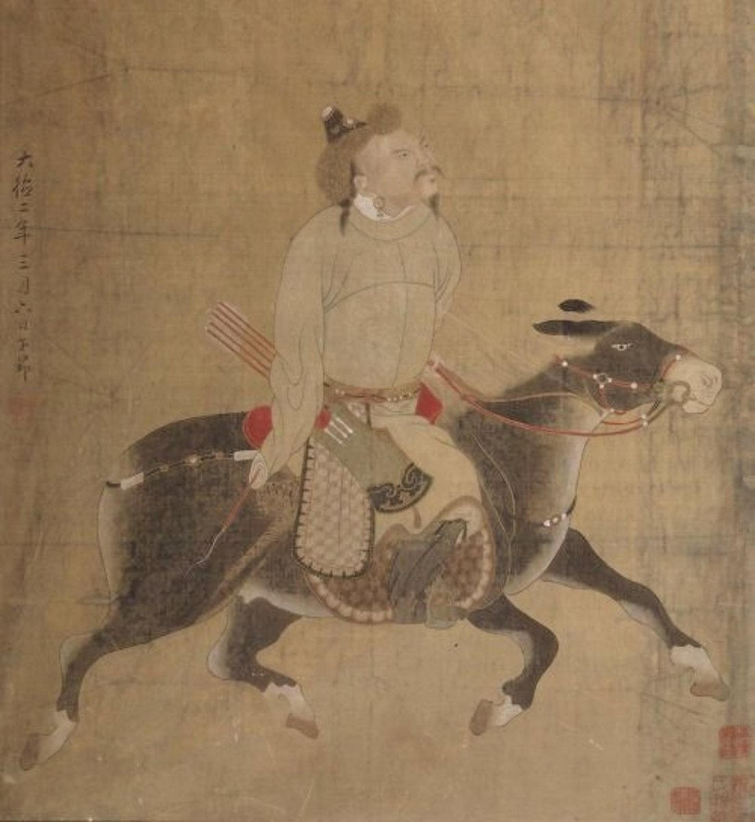 Did Khan die from injuries sustained after falling from his horse?