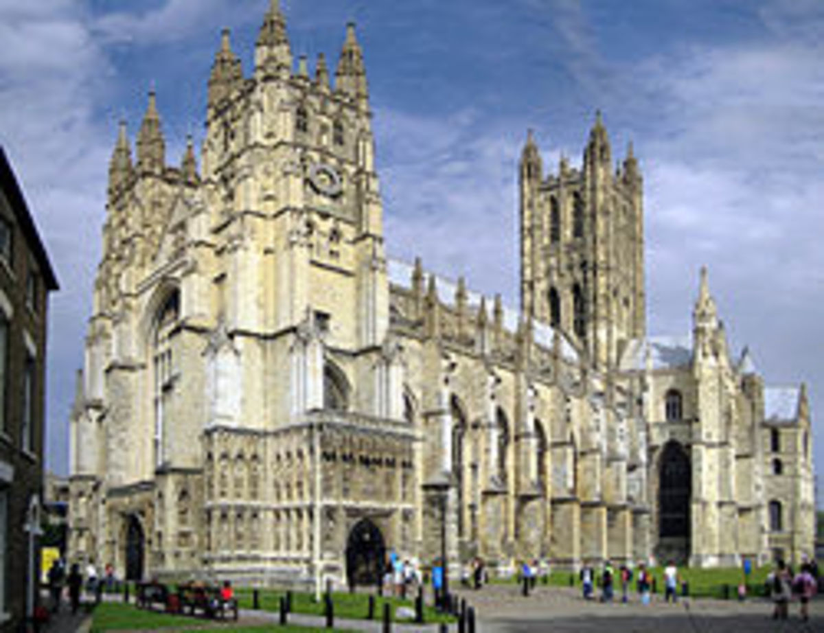 Canterbury Cathedral - Thomas More was Archbishop of Canterbury, then centre of the Catholic Church in England