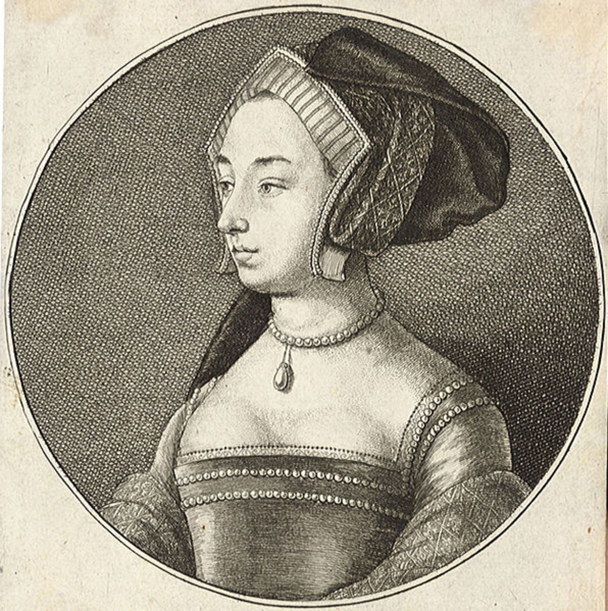 Wencleslas Hollar's portrait of Anne Boleyn