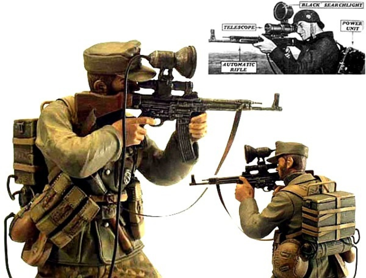 """""""Vampir"""" infrared vision sight attached to an StG 44"""