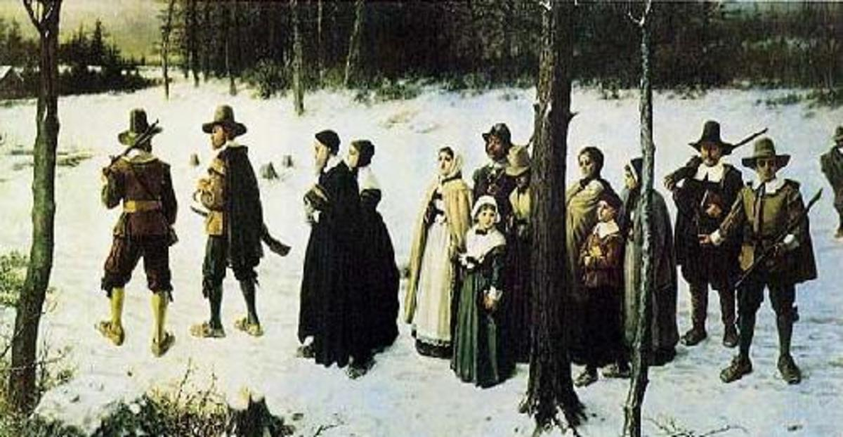 """Puritans Going to Church"" George Henry 1867"