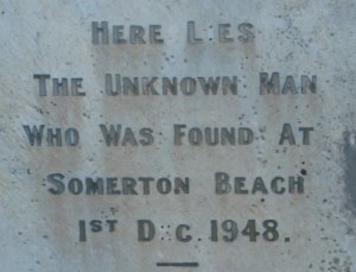 Tombstone of The Somerton Man, at his gravesite. He died 1 December 1948 and was buried on 14 June 1949.