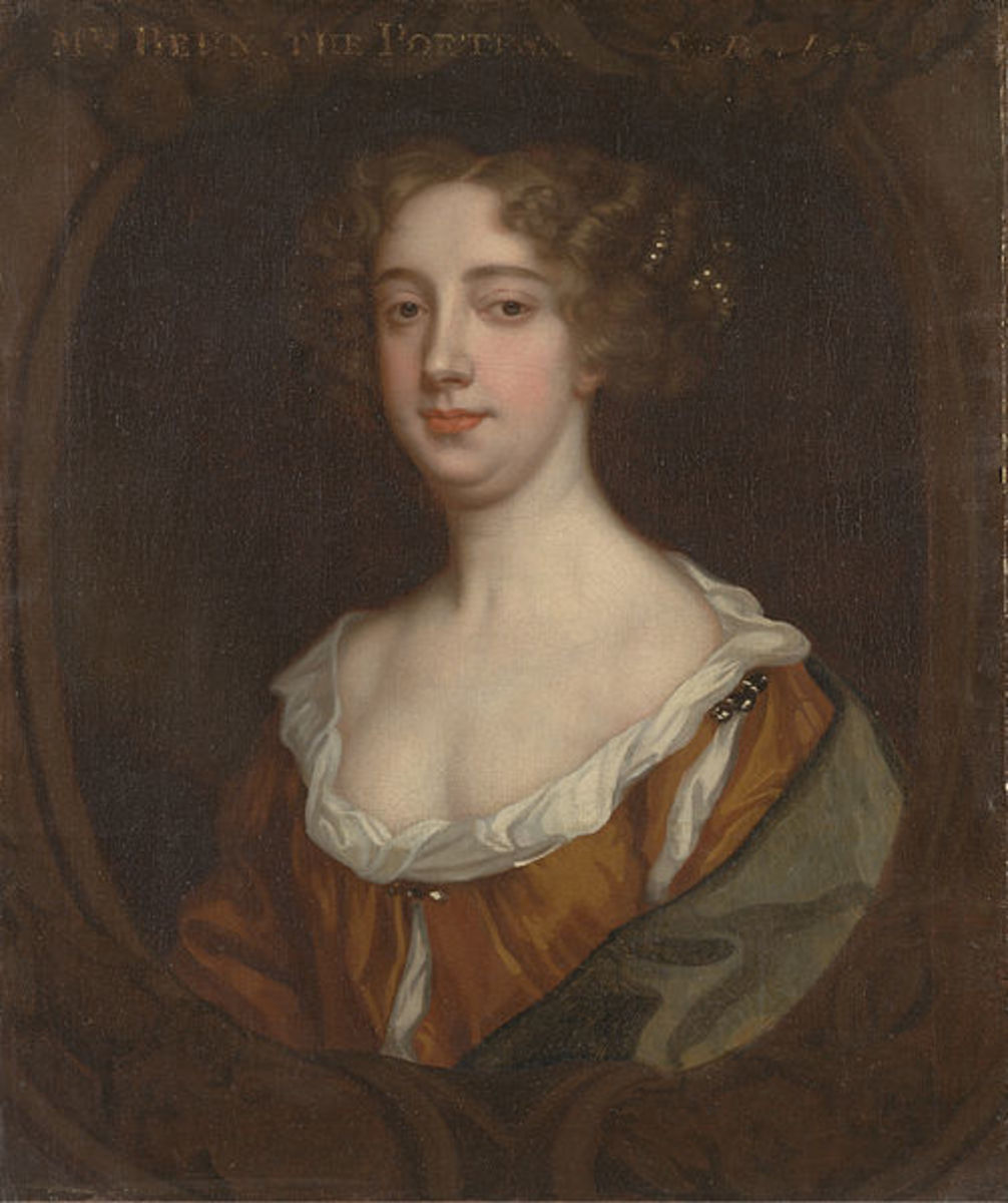 """Aphra Behn"" painted by Sir Peter Lely 1670"