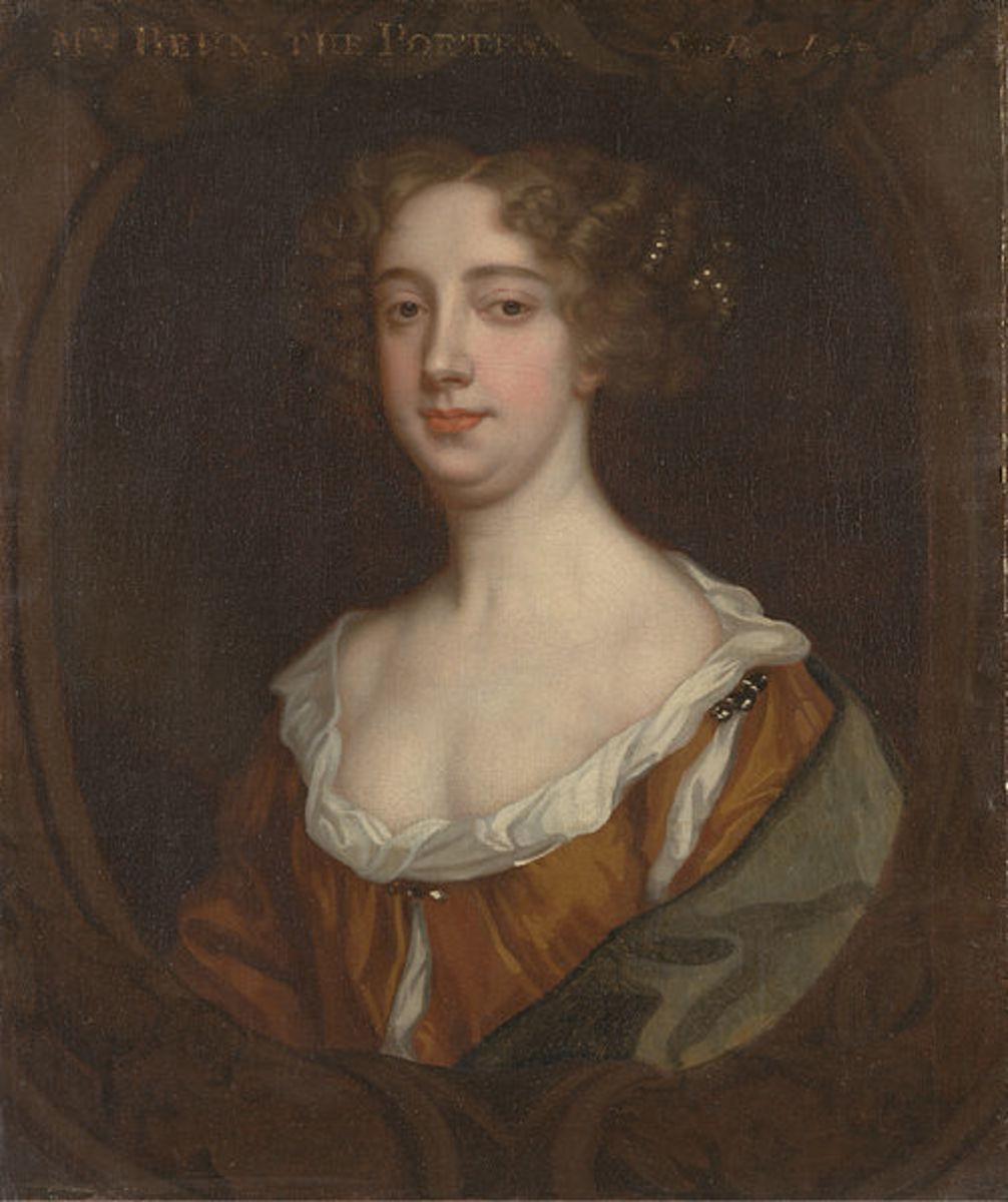 """Aphra Behn"" painted by Sir Peter Lely 1670"