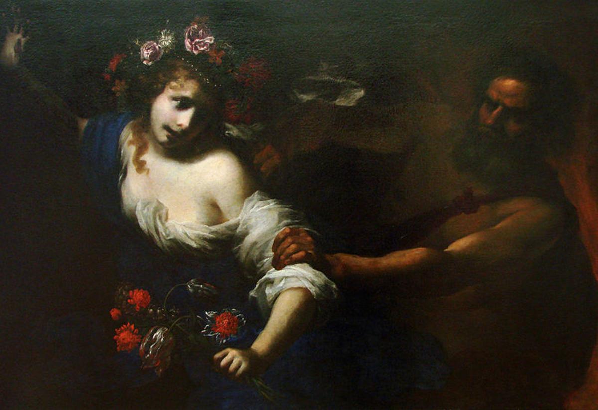"""The Rape of Proserpine"" by Simone Pignoni 1650"
