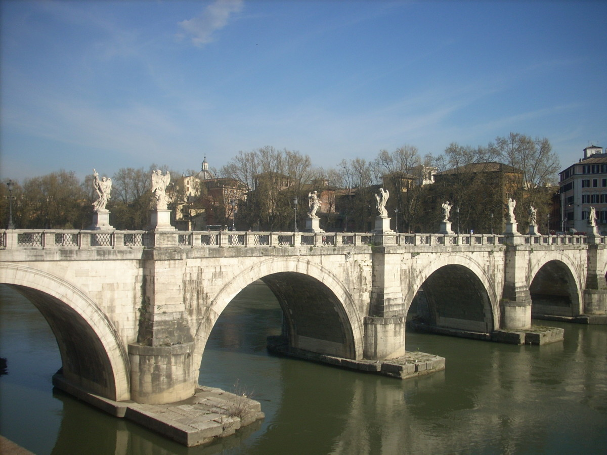 In 1599, Beatrice Cenci was executed on this, the Castel Sant'Angelo Bridge