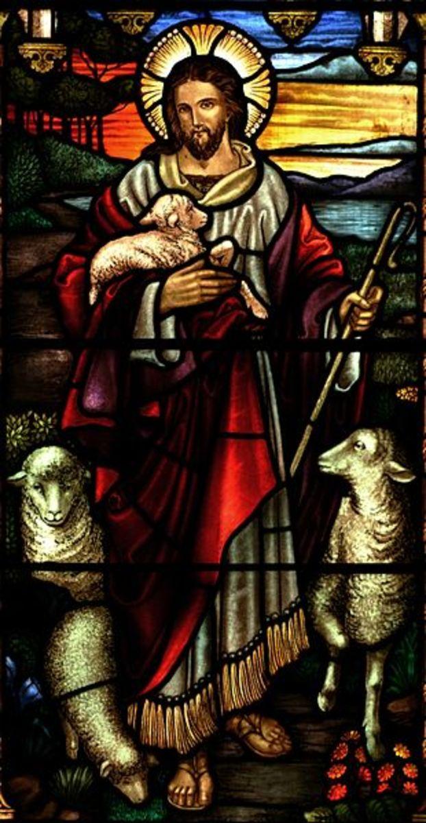 Glass painting of Jesus of Nazareth