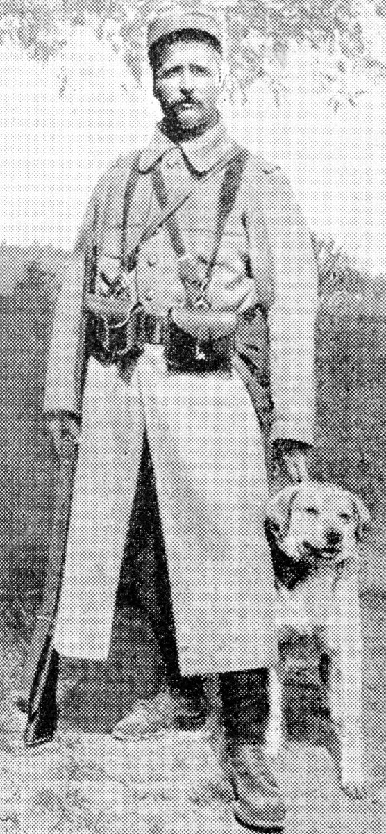 Trained dogs were used extensively in the French Army as companions to sentries on night duty, and they proved very valuable.