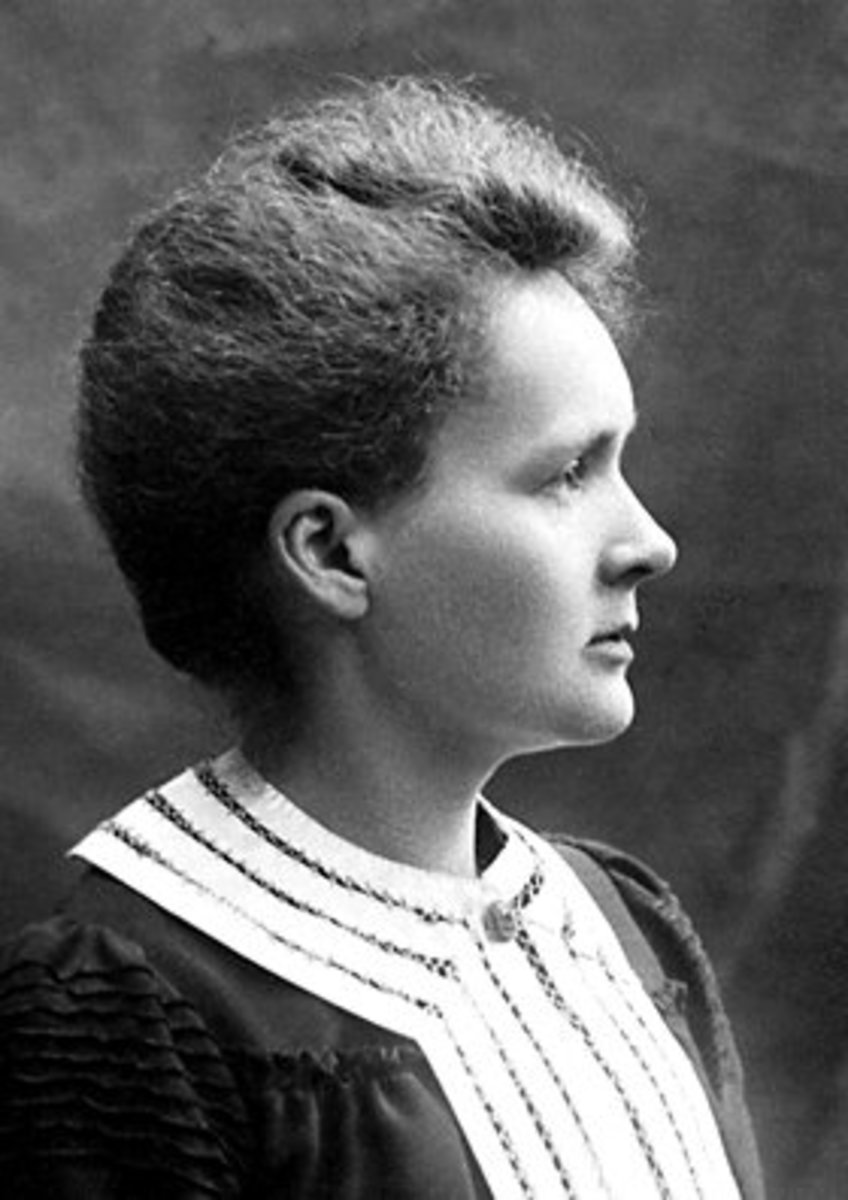 Marie Curie poses for the Nobel Foundation in 1903.