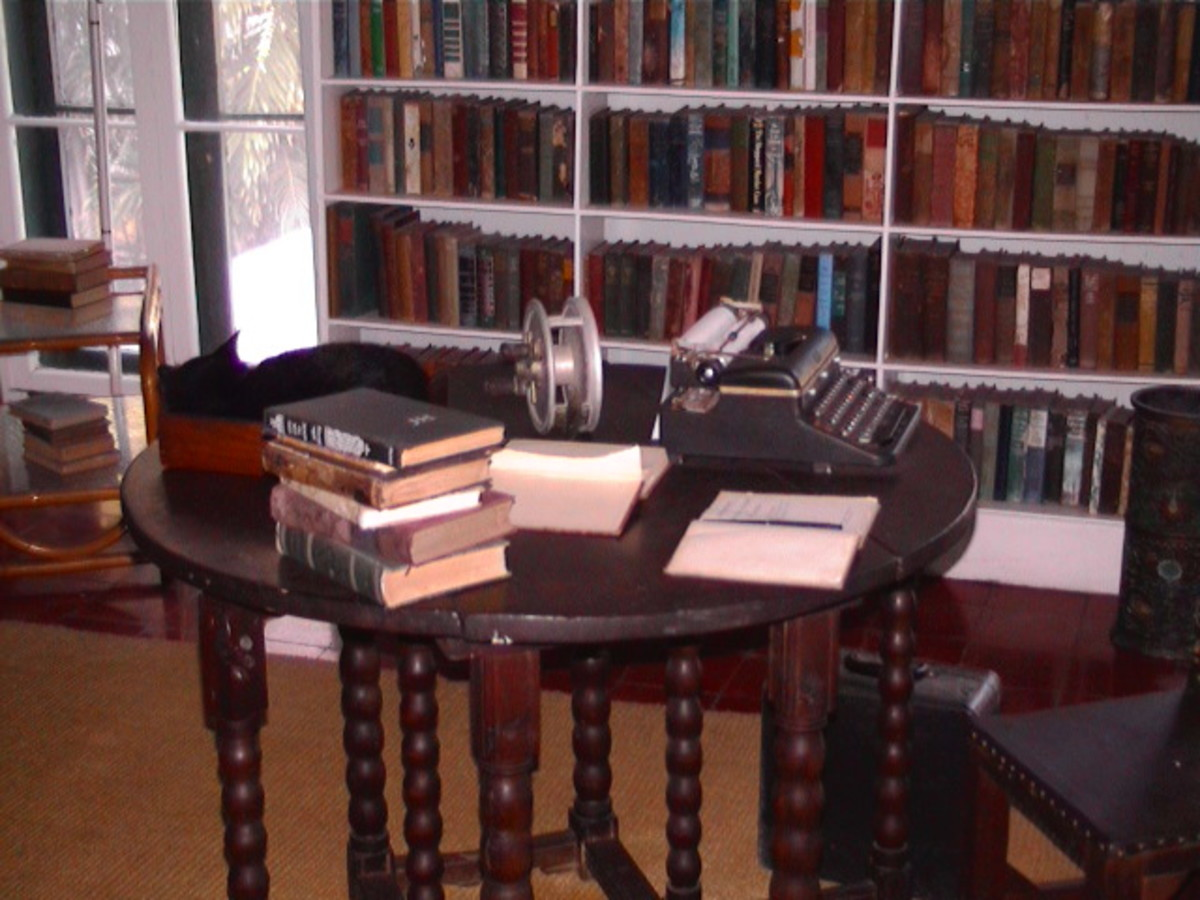 The Hemingway Home and Museum in Key West, Florida is home to his personal effects and 40-50 polydactyl cats.