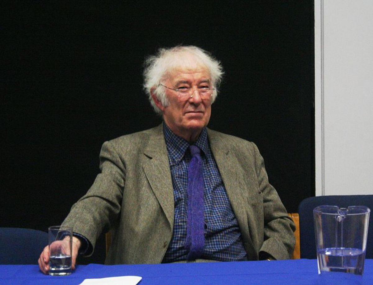 Seamus Heaney in 2009, Dublin, Ireland.