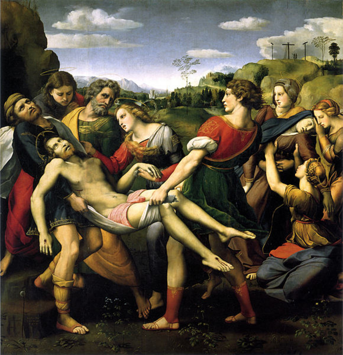 """Deposition of Christ"" , 1507, painted by Raphael."