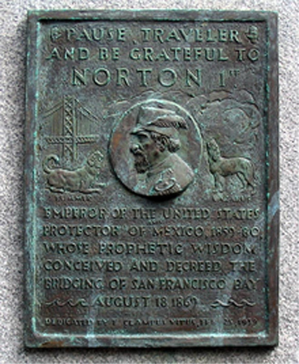 A plaque honoring his contribution to the concept of the Bay Bridge is mounted at the Trans-Bay Terminal in San Francisco