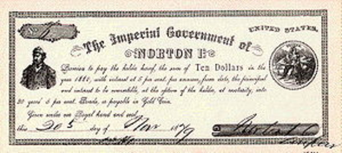 One of The Emperor's Ten-Dollar notes, which business people were proud to accept and display