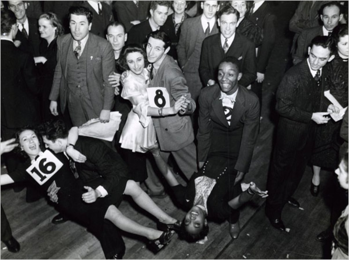 "The Jitterbug dance gets its name from the ""out of control"" movements similar to how an alcoholic suffers from the ""jitters"""