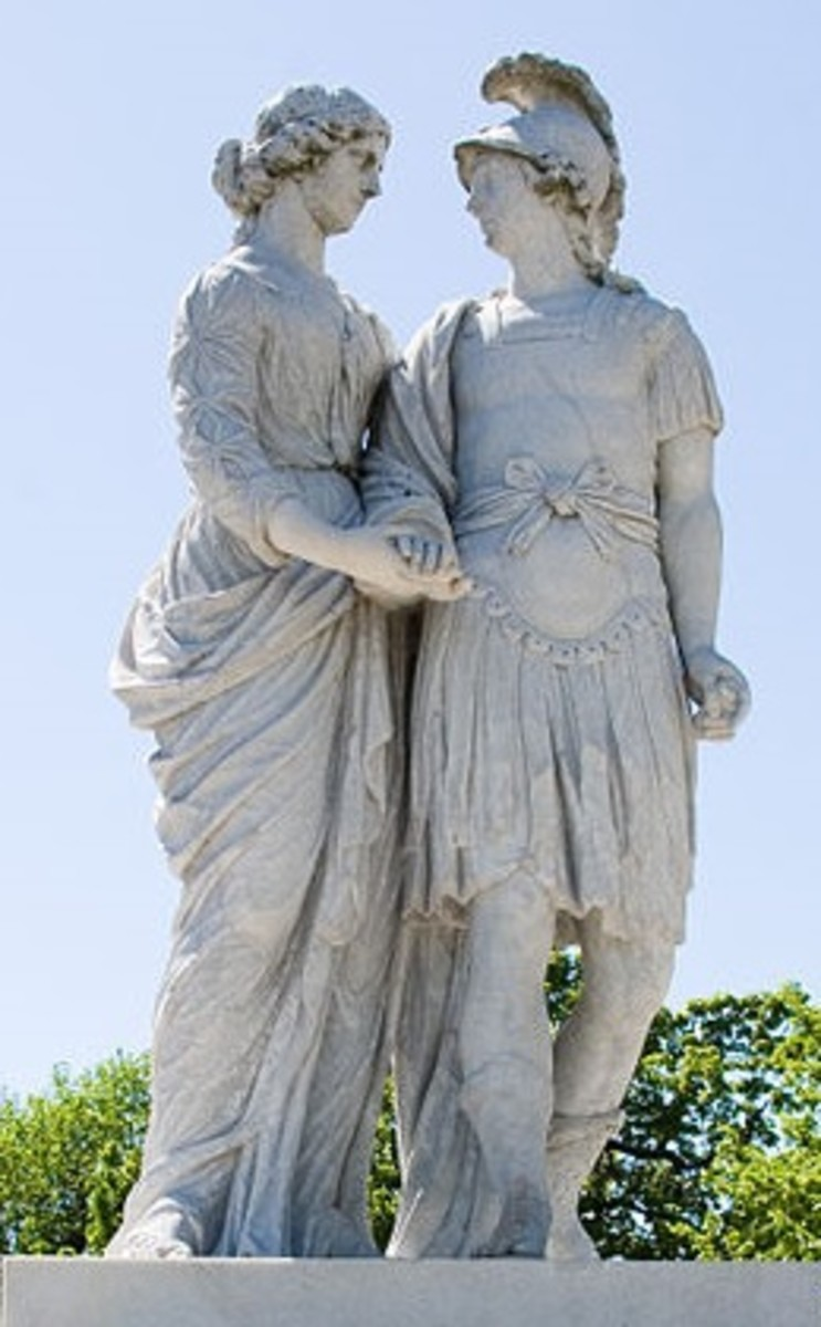 Alexander and his mother Olympias