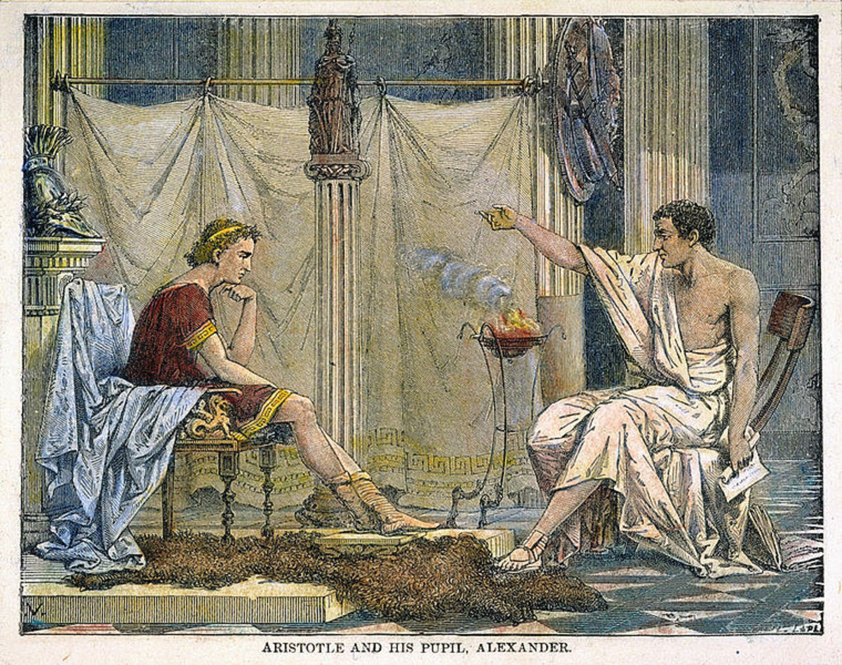 Aristotle and his student Alexander