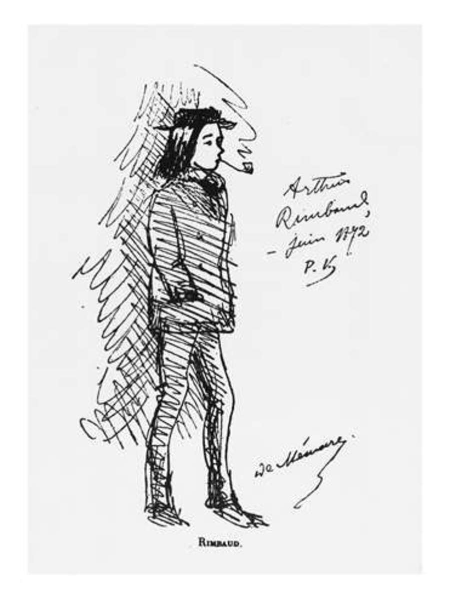 Drawing of Rimbaud by Verlaine.