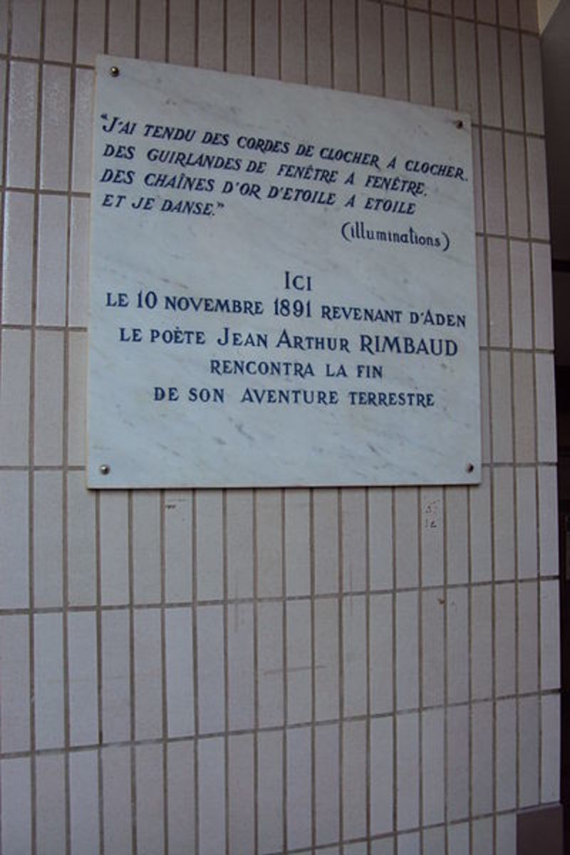 The hospital in Marseilles where Rimbaud died.