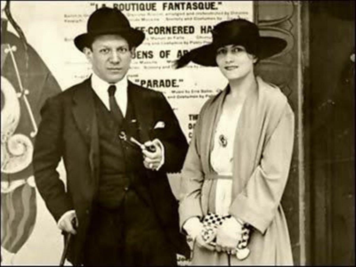 Picasso and Koklova.