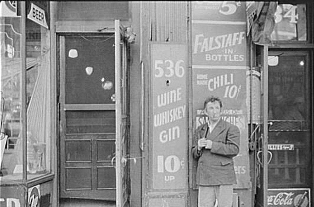 Transient on South State Street's Skid Row in the early 1940s.