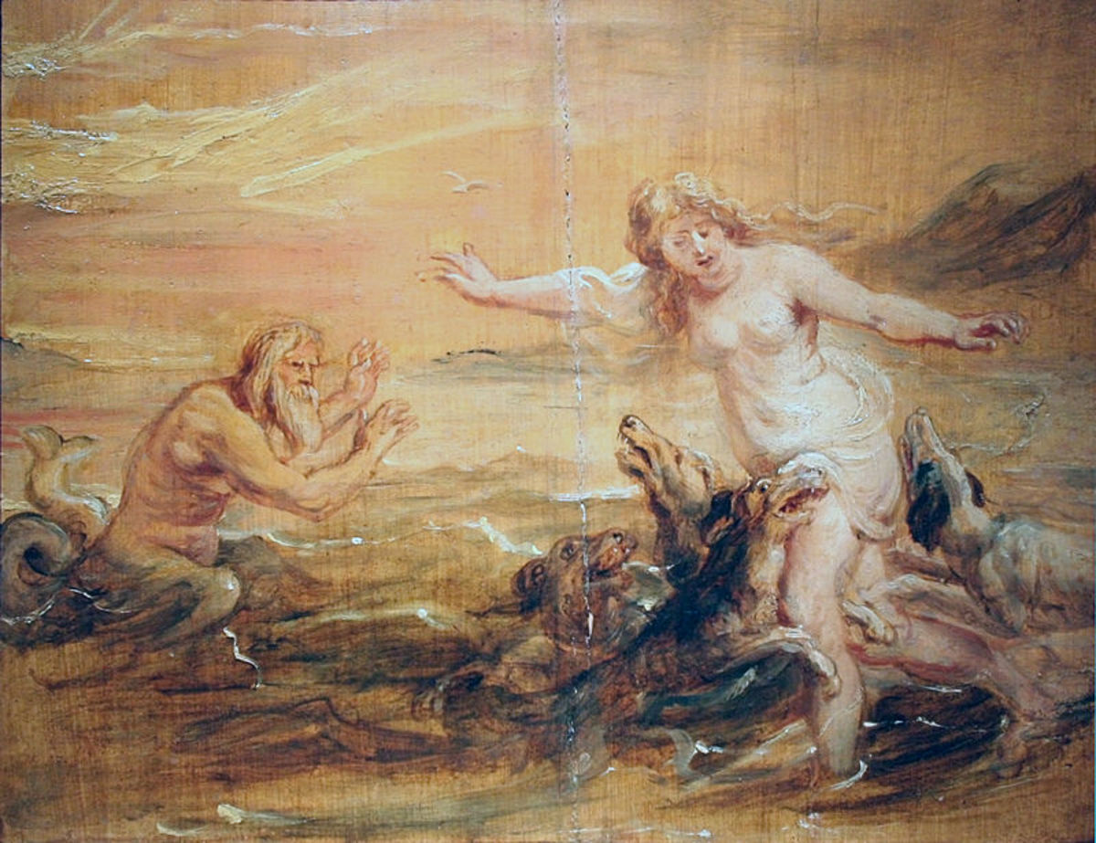 Peter Paul Rubens - Scylla and Glaucus c1636 PD-art-100