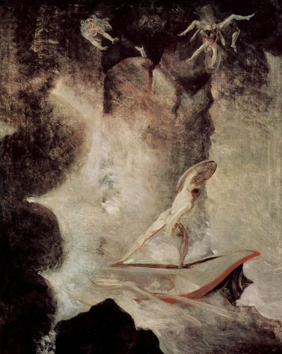 Odysseus in front of Scylla and Charybdis - Henry Fuseli (1741–1825) PD-art-100