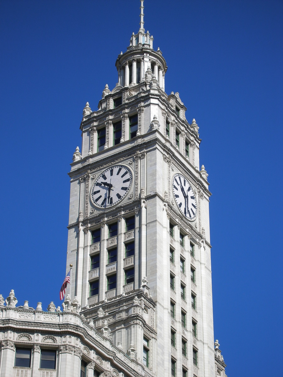 Wrigley Building's Iconic Clock