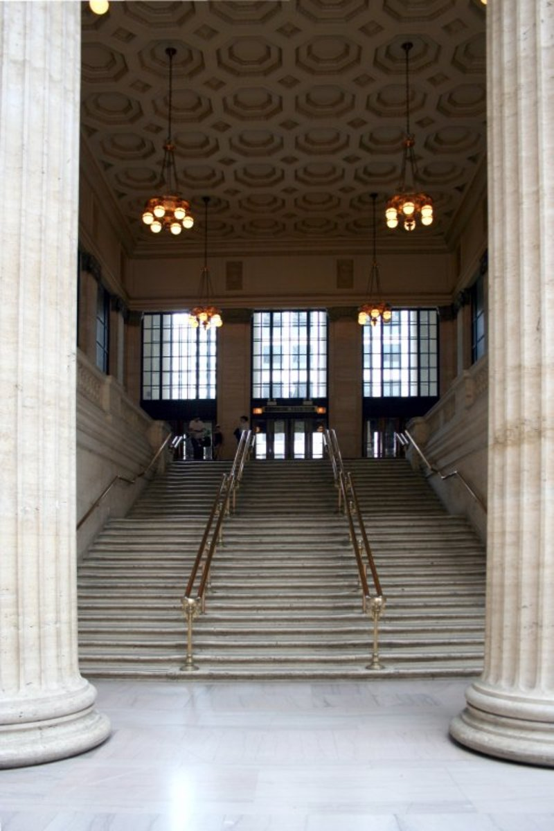 Famous Staircase as seen in the movie The Untouchables