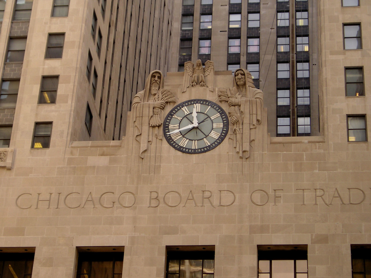 CBOT clock close up