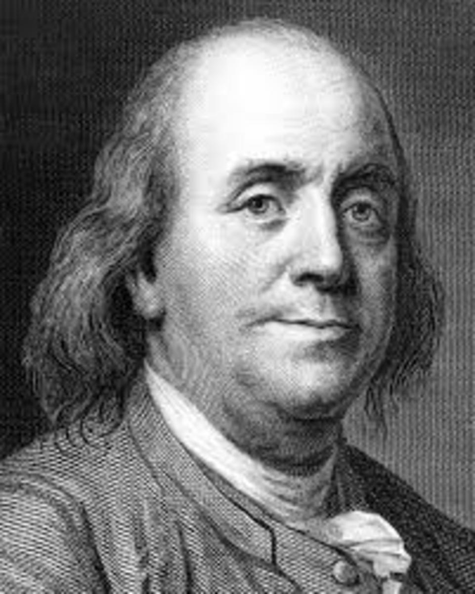 Benjamin Franklin as pictured on the dollar bill.