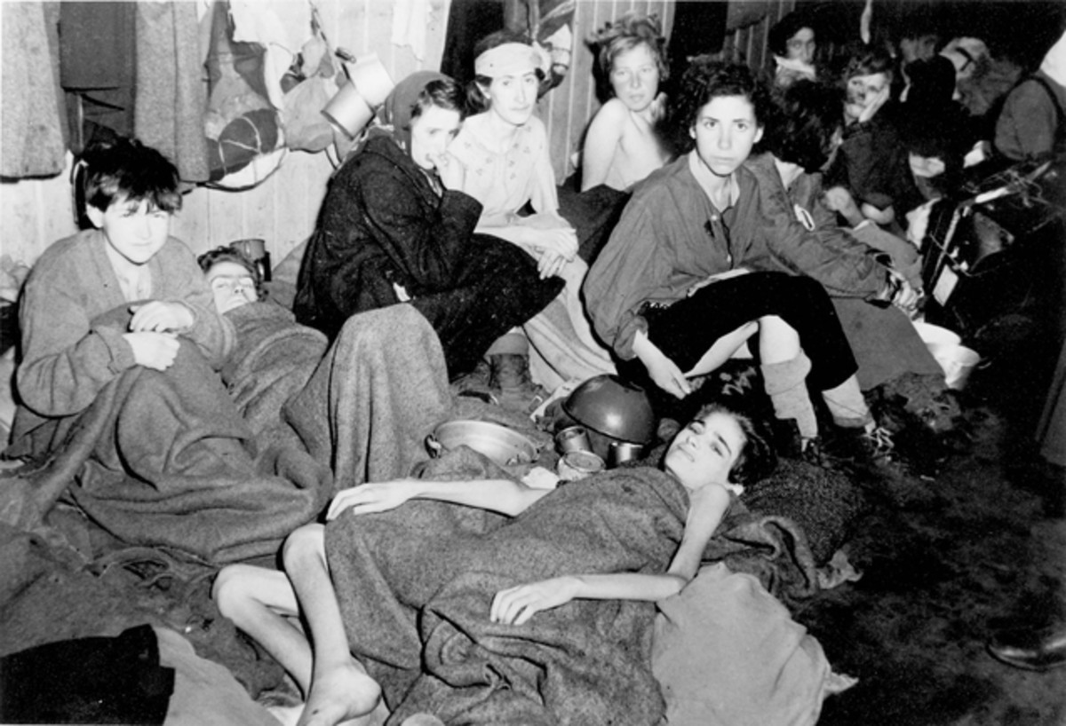 Women prisoners at Bergen-Belsen Concentration Camp