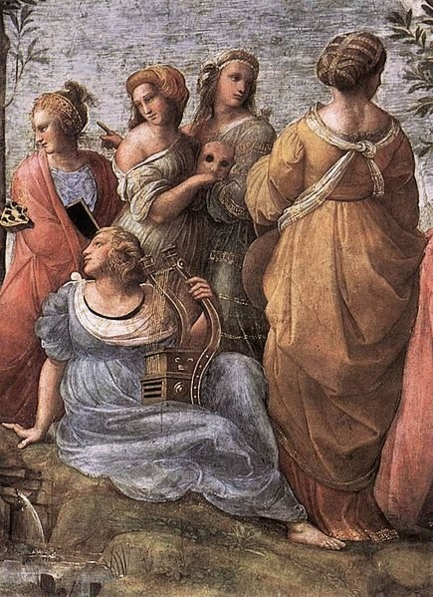 The Muses in Raphael's Parnassus, 1511.
