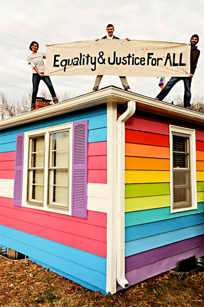 A Spite House with a difference - designed to really annoy the neighbours (The Westboro Baptist Church)