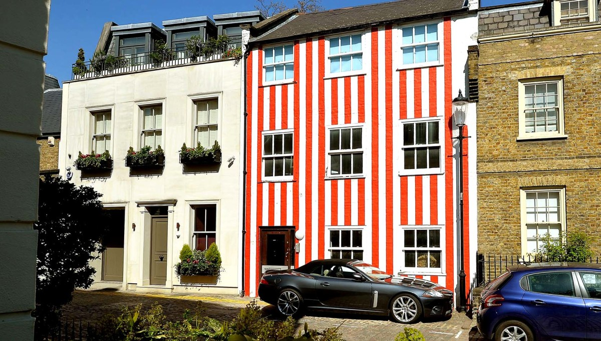 The Red and White Candy Stripe House