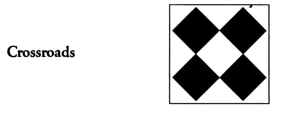 Crossroads quilt code