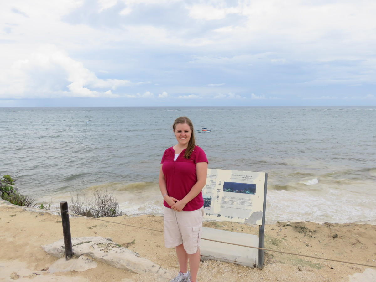 This is a photo of me in front of the ocean that protects the fortress on the West side.