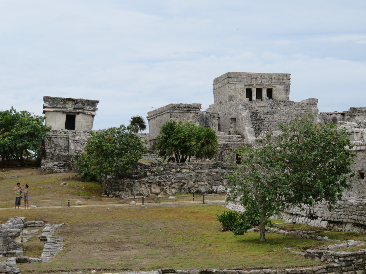 This is a picture of the temple for the Descending God at Tulum.