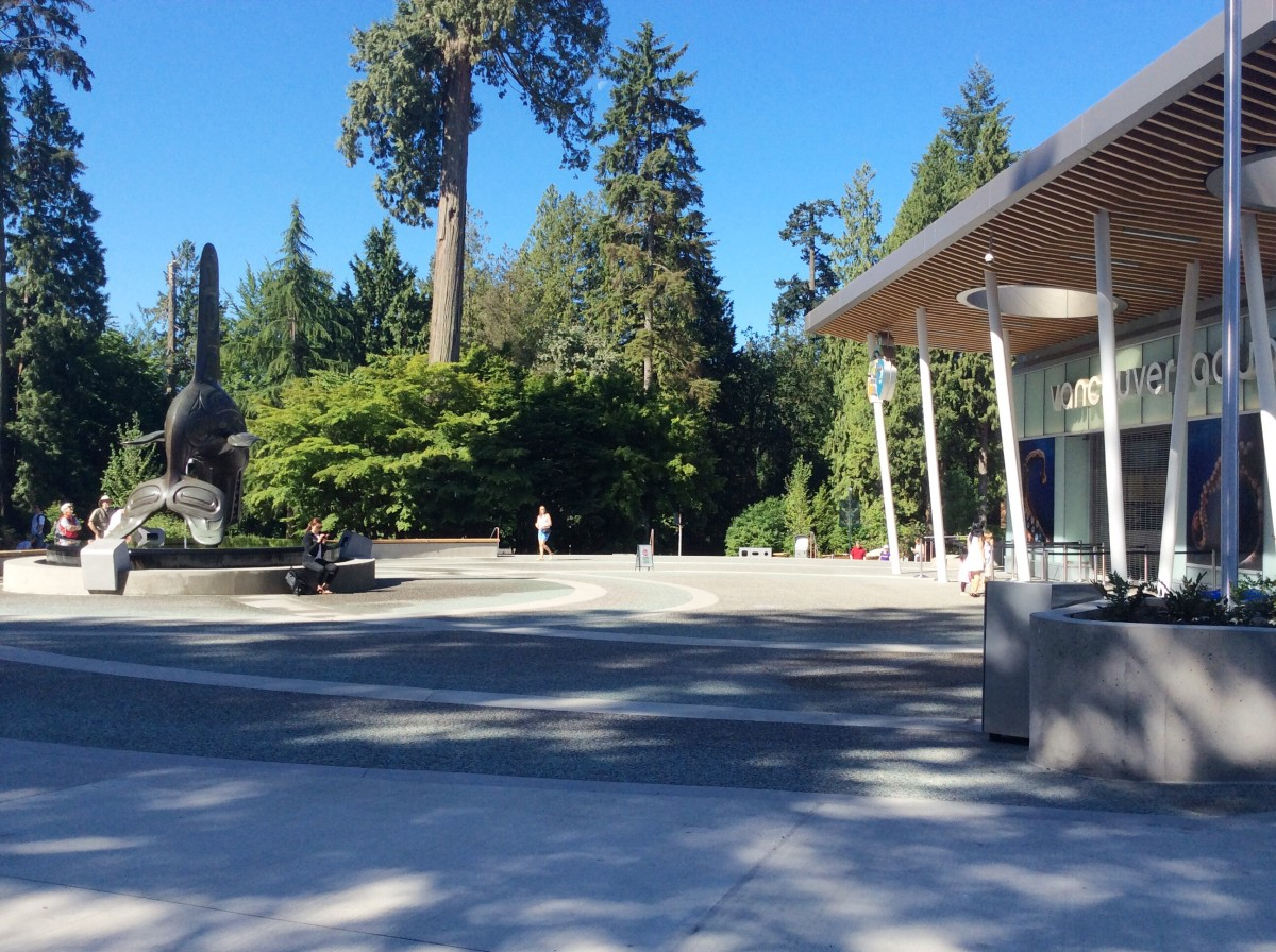 The entrance to the Vancouver Aquarium in Stanley Park