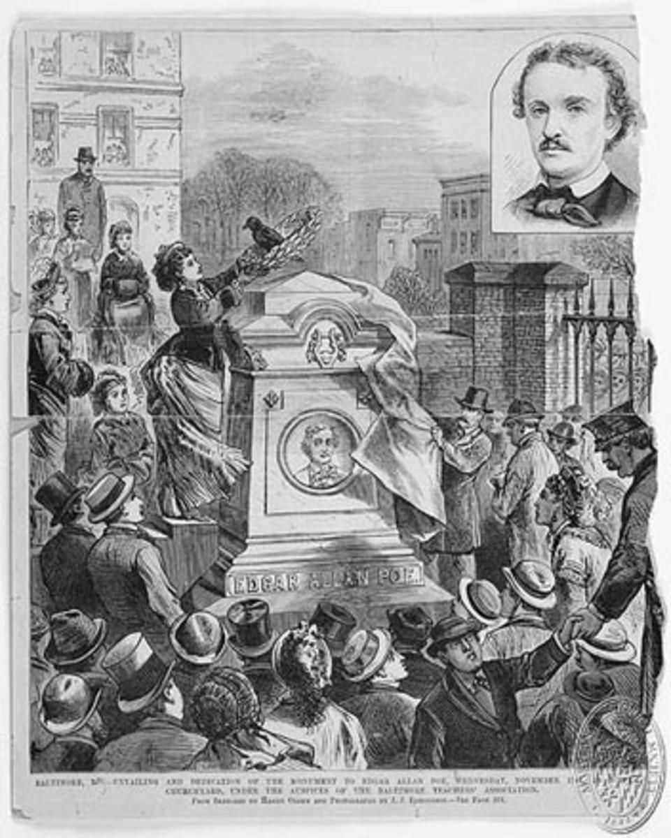 1875 Unveiling of Poe's Headstone