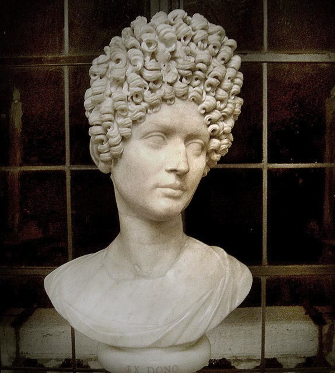 A bust of a woman, 1st century AD