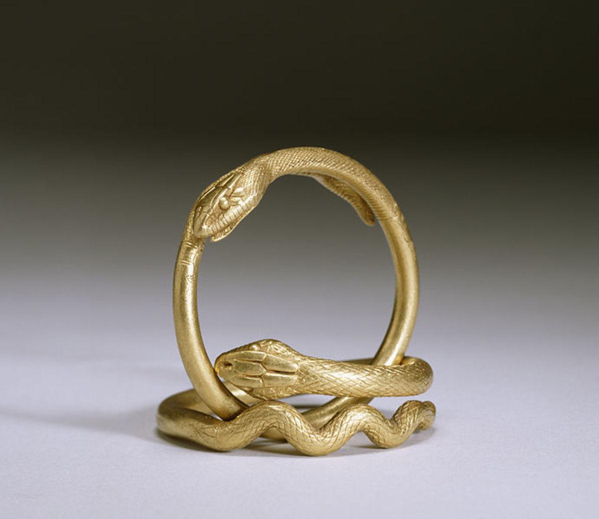 Ancient Roman snake bracelets