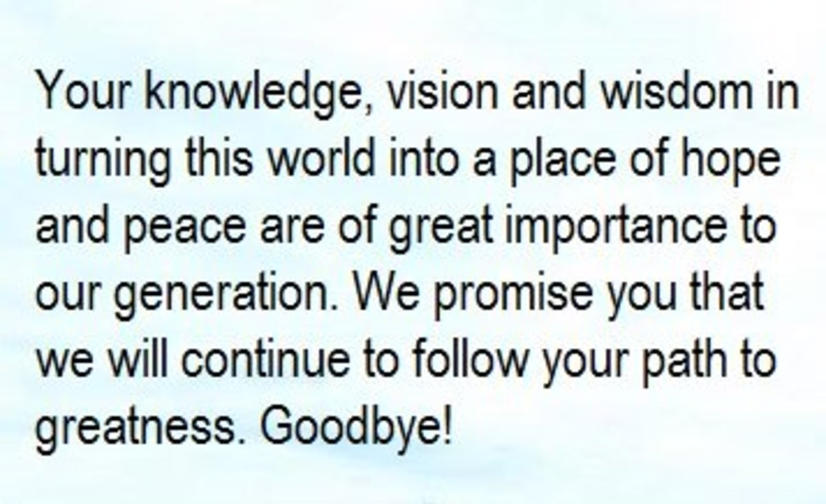 Farewell message for a teacher and mentor owlcation its indeed a great pleasure to share this special time with you you are a tower of strength and knowledge if the world can have more people like you pronofoot35fo Gallery
