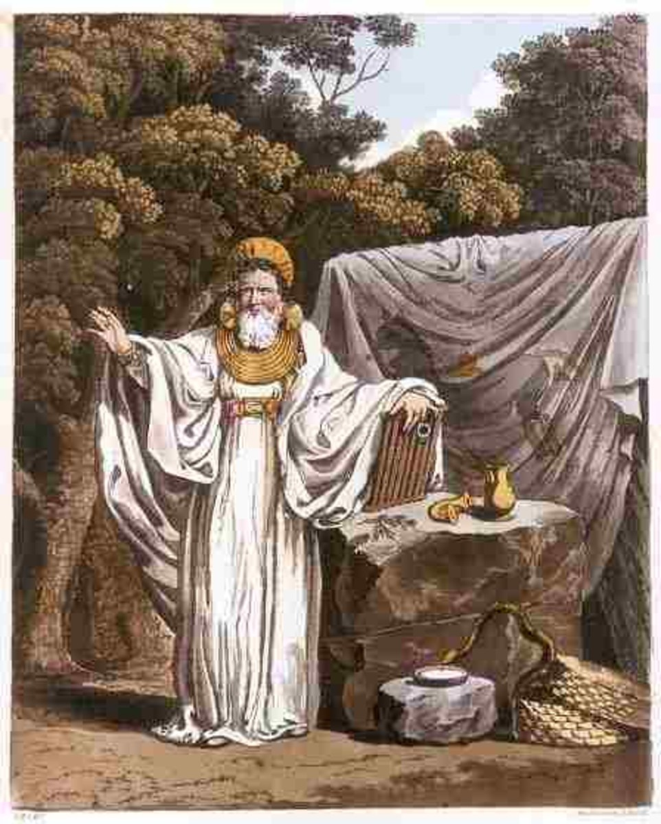 1815 illustration of an Arch Druid in His Judicial Habit