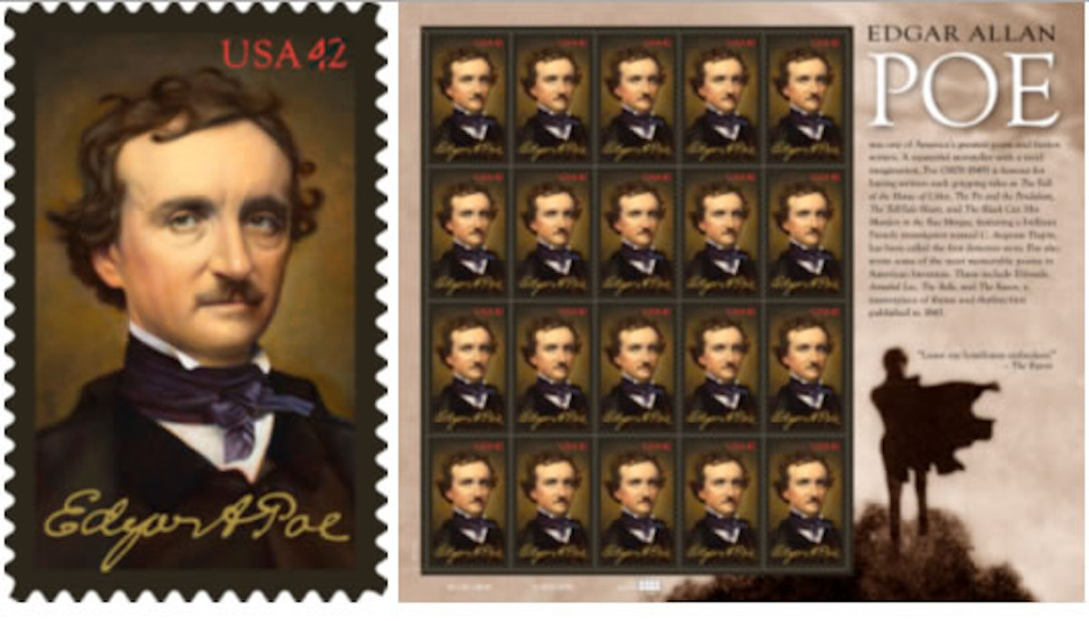 Edgar Allan Poe - Commemorative Stamp
