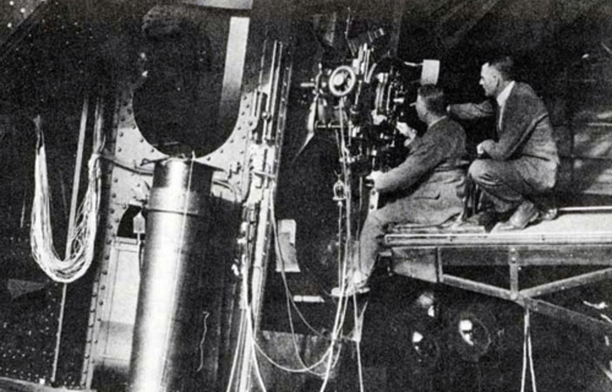 Humason and Hubble At Work