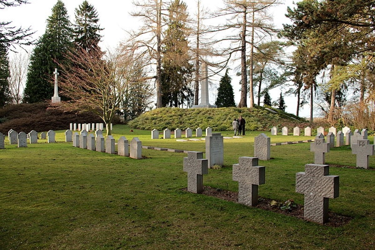 International Military Cemetery at Saint Symphorien near Mons, Belgium where 513 WW1 British Commonwealth and German soldiers are buried.
